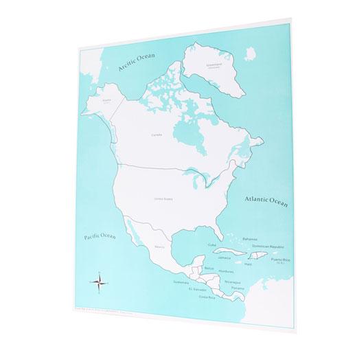 North America Control Map Labeled Adena Montessori Materials